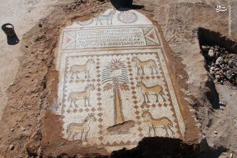 کشف دومین سنگ موزاییک بزرگ در بخش شمالی کشوردر استان حما