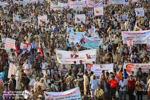حمله جنگندههای سعودی به مراسم تشییع پیکر «الصماد»