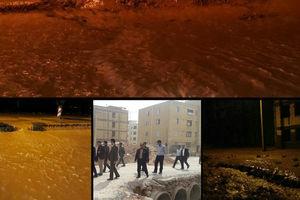 غفلت مسئولان مسکن مهر پلدختر را غرق کرد +عکس