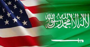 پرچم امریکا و عربستان