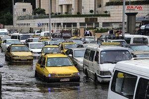 بارندگی شدید باران در دمشق