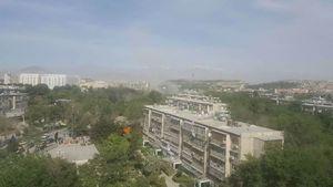 فیلم/ انفجارهای پیدرپی در مرکز شهر کابل