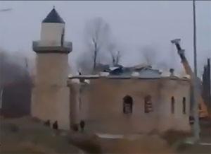 فیلم/ تخریب مسجد توسط دولت آذربایجان!