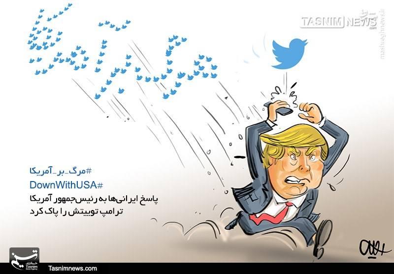 کاریکاتور/ پاسخ ایرانیها به رئیسجمهورآمریکا
