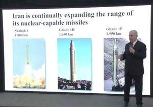گاف نتانیاهو درباره موشک های ایران +عکس