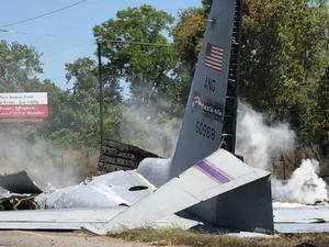 عکس/ سقوط مرگبار هواپیمای نظامی آمریکا