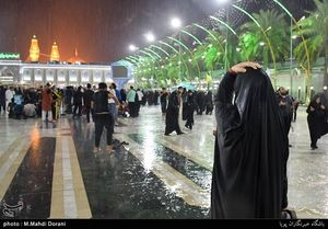 بارش رحمت الهی در کربلا