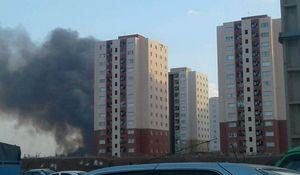 آتش به جان برجهای پرند افتاد+عکس