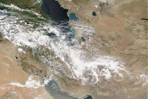 تصویر ماهوارهای ناسا از وضعیت جوی امروز ایران