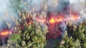 تصاویر هوایی وحشتناک از فوران آتشفشان هاوایی
