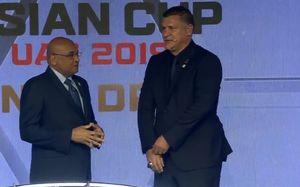 علی دایی در قرعه کشی جام ملتهای آسیا
