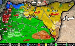 پیشروی محدود نیروهای کُرد در شرق فرات با وجود پشتیبانی آمریکا و فرانسه/ ضربات سنگین شبه نظامیان کُرد به ارتش ترکیه + نقشه میدانی