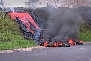 گدازه های آتشفشان در هاوایی