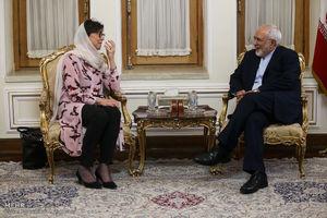 / حجاب مهمان سوئدی در دیدار با ظریف
