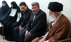 دیدار خانوادههای ۲ شهید نیروی انتظامی با رهبر انقلاب
