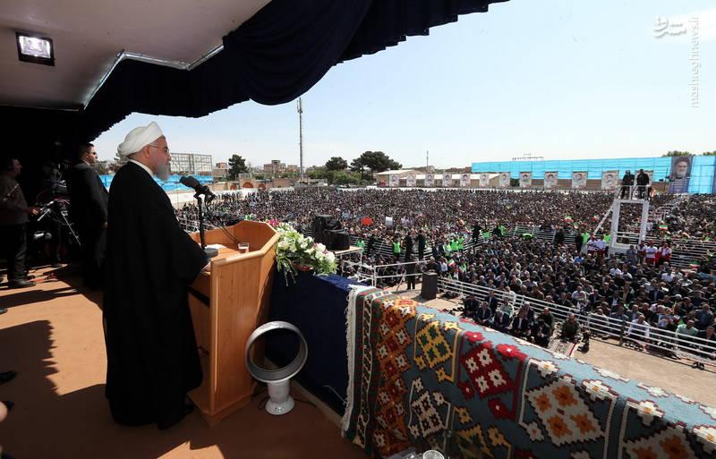 سخنرانی امروز (یکشنبه) روحانی در جمع مردم سبزوار