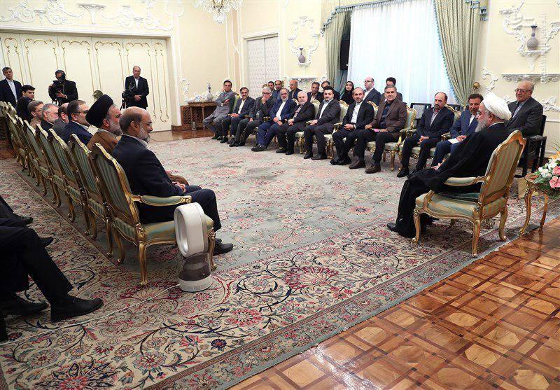 دیدار نوروزی مدیران صدا و سیما با رئیس جمهور