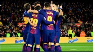 فیلم/ خوشحالی بازیکنان بارسلونا در نیوکمپ