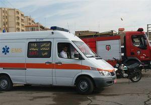سقوط خونین کارگر بر روی میلگرد +عکس
