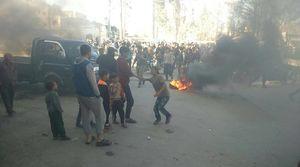 جزئیات حوادث روز گذشته شمال استان حلب؛ قیام مردم شهر الباب علیه عناصر تروریستی و نیروهای متجاوز ترکیه + نقشه میدانی و عکس