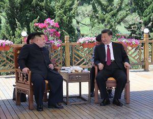 دیدار کیم جونگ اون با رئیس جمهور چین
