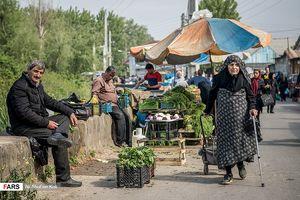 عکس/ بازار محلی شهر خُمام