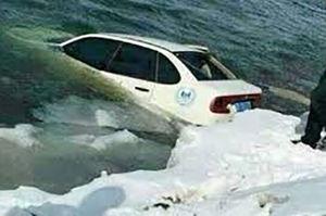 فیلم/ نجات یک زن از وسط دریاچه!