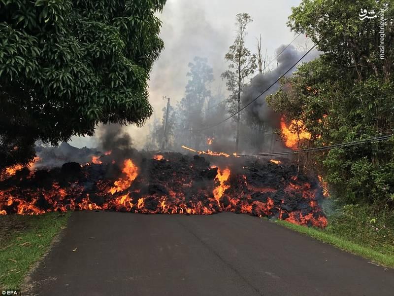 عکس طبیعت عکس جزایر هاوایی عکس آتشفشان حوادث واقعی توریستی هاوایی بلایای طبیعی در جهان بلایای طبیعی آتشفشان فعال آتشفشان چیست
