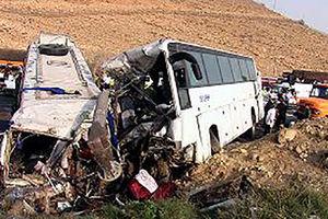 فیلم/ تصادف مرگبار دو اتوبوس در محور مرگ!