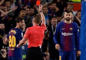 مدافع بارسلونا ۴ جلسه محروم شد