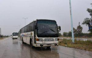 آغاز مرحله نخست انتقال تروریستها از شمال حمص و جنوب حماه به شمال سوریه + تصاویر و نقشه میدانی