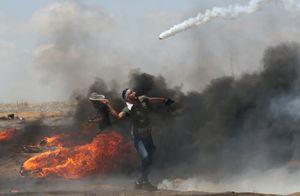 عکس/ تنیس به سبک جوانان فلسطینی