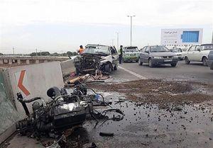 تصادف بزرگراه تهران قم