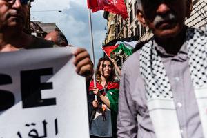 عکس/ تظاهرات گسترده مردم ایتالیا در حمایت از قدس
