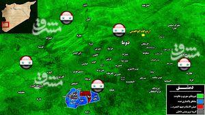 روند آزادسازی جنوب دمشق چگونه بود؟ +عکس