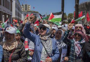 عکس/ تظاهرات ضدصهیونیستی مردم مراکش