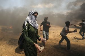عکس/ حضور زنان در راهپیمایی بزرگ بازگشت در فلسطین