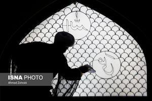 غبار روبی مساجد در آستانه ماه مبارک رمضان -قم