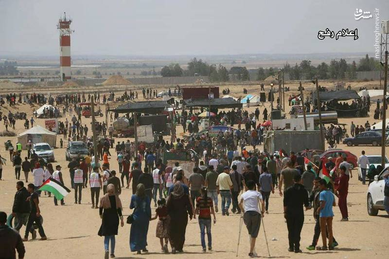 آغاز تظاهرات بزرگ بازگشت در نوار غزه