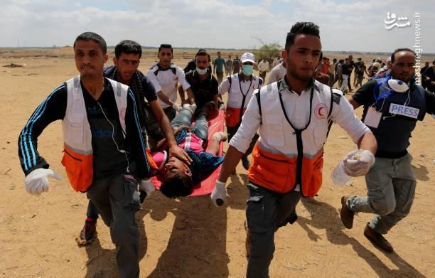 هلالاحمر فلسطین اعلام کرد تا کنون ۲۸ فلسطینی در مرز نوار غزه زخمی شدهاند