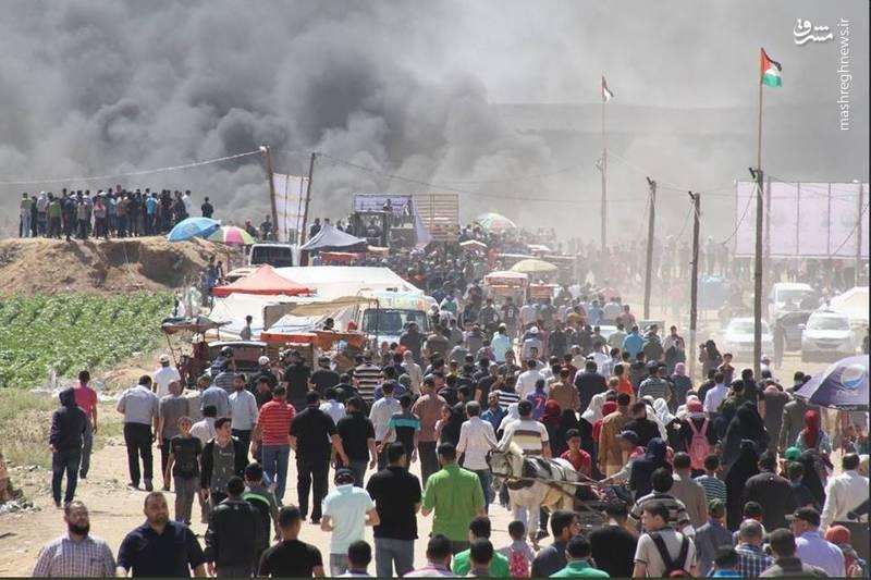 راهپیمایی گسترده مردم در کرانه باختری