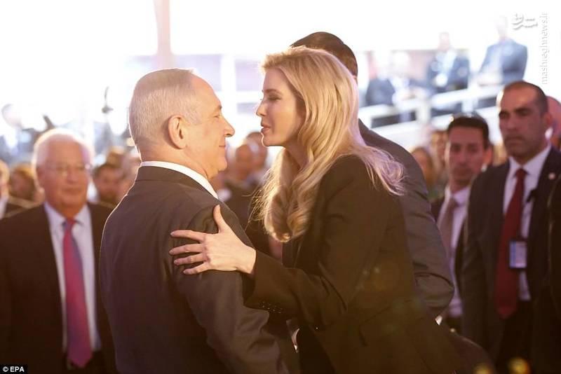 ایوانکا ترامپ و نتانیاهو در آغاز مراسم افتتاح سفارت آمریکا در قدس