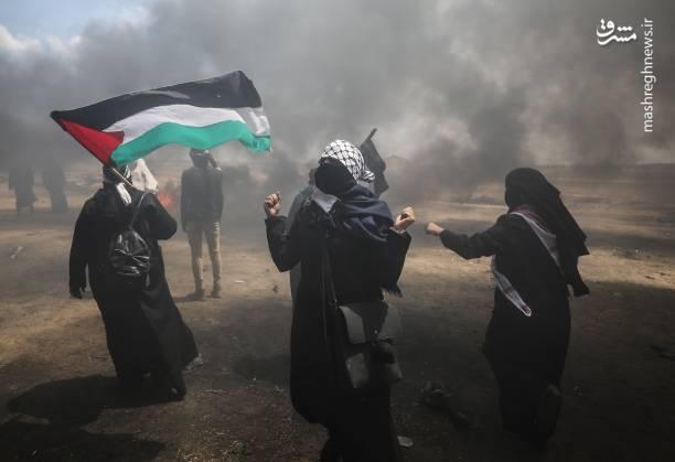مشارکت زنان در راهپیمایی بزرگ بازگشت در فلسطین