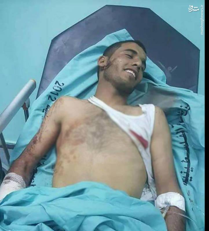 تصویری از لبخند شهید معتصم أبو لولي