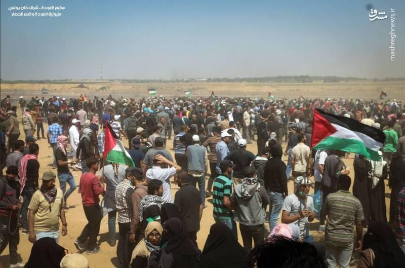 همزمان با برگزاری تظاهرات بزرگ بازگشت در نوار مرزی باریکه غزه، شهرهای کرانه باختری نیز از جمله رام الله، بیت لحم و الخلیل صحنه درگیری شدید میان فلسطینیان و نظامیان اسرائیلی است.