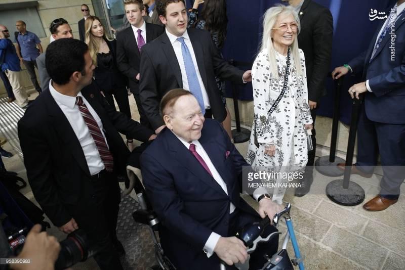 حضور شلدون ادلسون در مراسم افتتاح سفارت آمریکا در بیت المقدس.