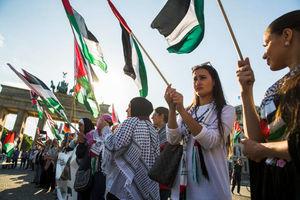 عکس/ تظاهرات گسترده حمایت از فلسطین در آلمان