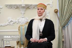 عکس/ پوشش جالب سفیر استونی در دیدار با روحانی