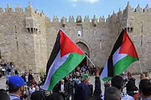 فیلم/ ترس صهیونیست ها از پرچم فلسطین
