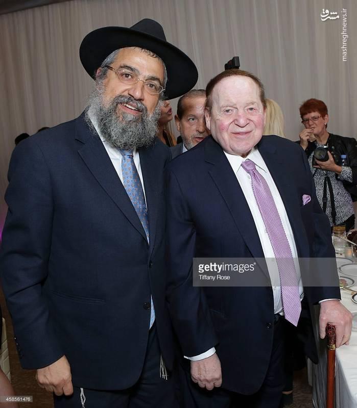 شلدون ادلسون در کنار یکی از ثروتمندان یهودی